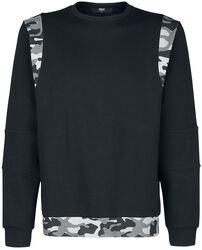 Sweatshirt with camouflage details