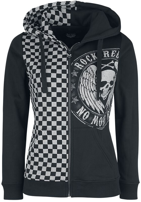 Hooded Jacket with Chessboard Pattern