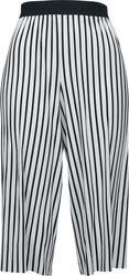 Ladies Stripe Pleated Culotte