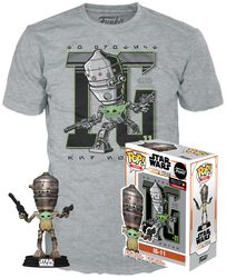 The Mandalorian - IG-11 with the Child - POP! & Tee