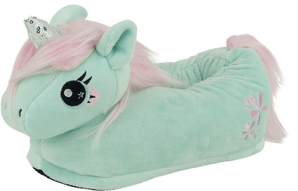 Jade Unicorn Kids' Slippers