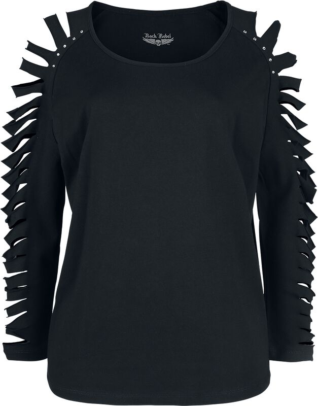Black long sleeve with cut-outs