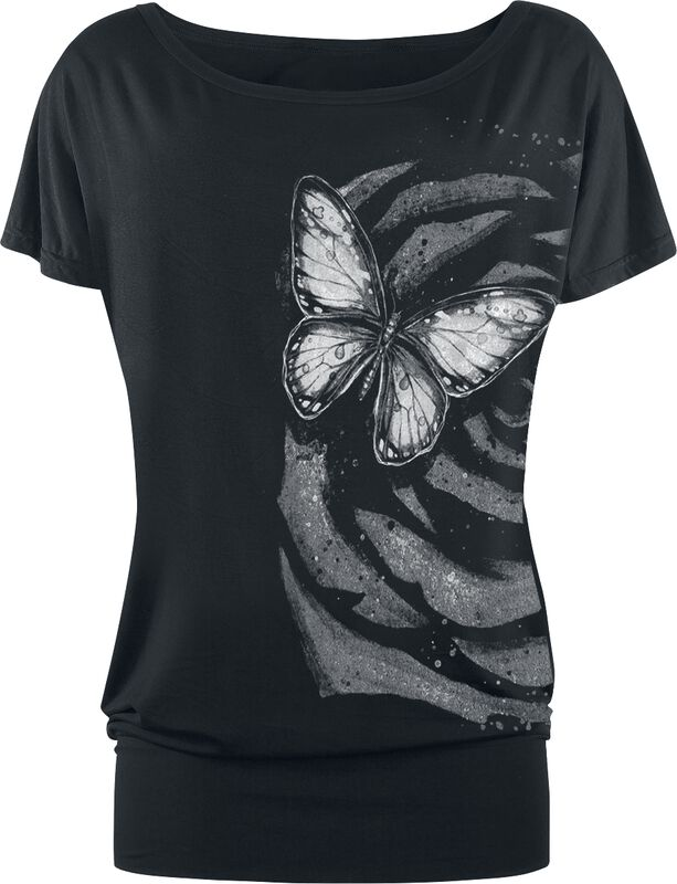 T-shirt with Butterfly Print