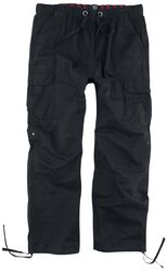 Black Cargo Trousers with Drawcord