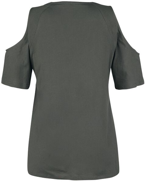 Open-Shoulder Top With Lacing T-Shirt