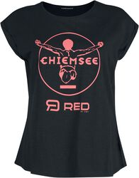 RED X CHIEMSEE - Black T-Shirt with Print