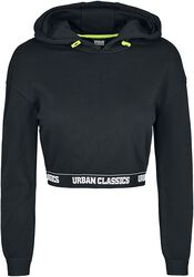 Ladies Logo Waistband Cropped Hoodie