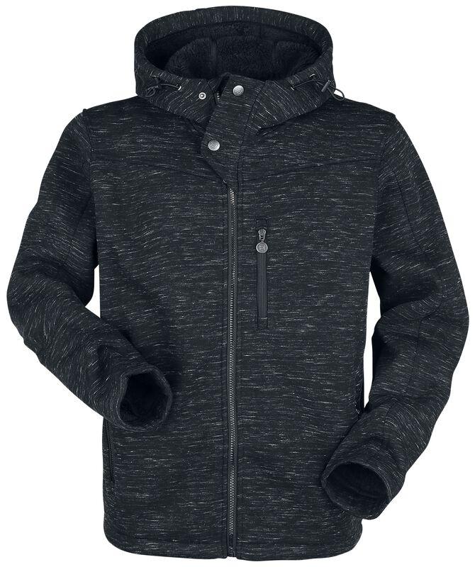 Black Mottled Jacket with Hood
