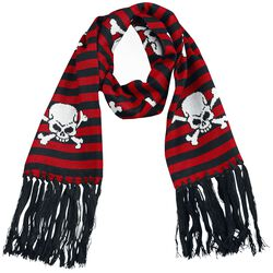 Striped Scarf WIth Skulls