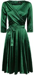 Elegant Emerald Swing Dress