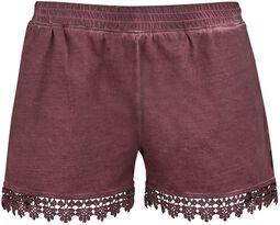 Hot Pants with Lace Black Premium