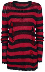 Freddy's Destroyed Stripe Sweater