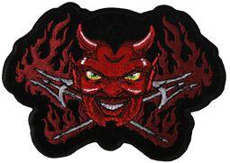 Patch: Burning Devil with Pitchforks