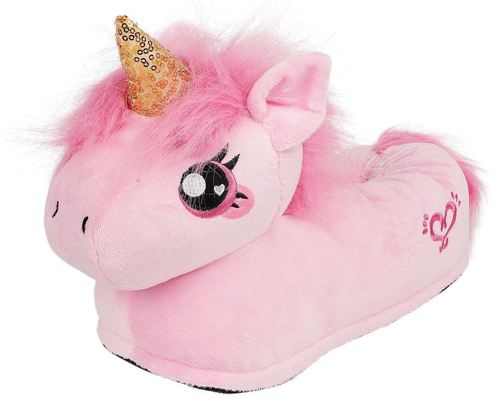 Pink Unicorn Adult Slippers