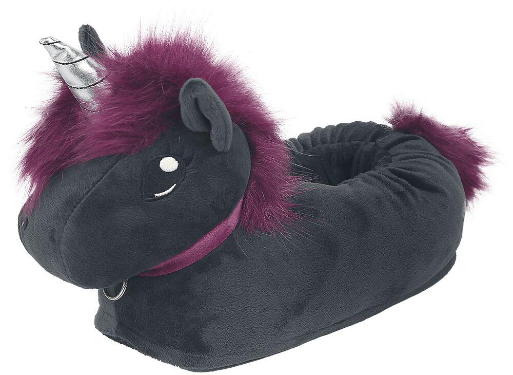 Ruby Punk Unicorn Kids' Slippers