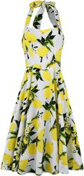 Lemon Print Swing Dress