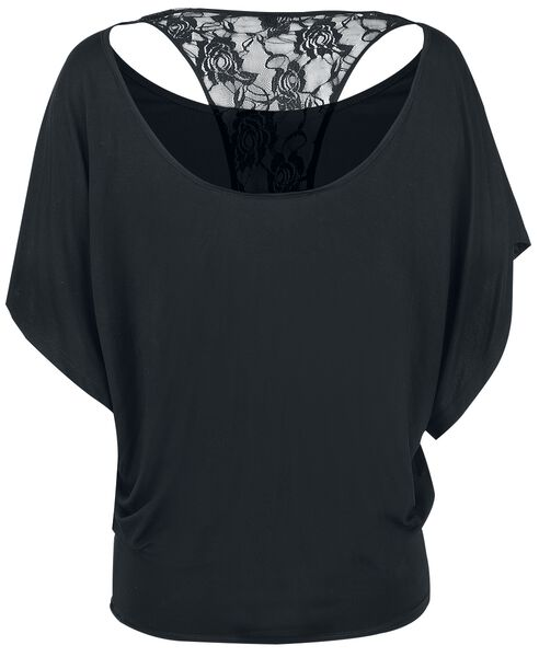 Bat T Back Wings Lace Shirt qAYPPX