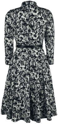 Chevron Roses Swing Dress