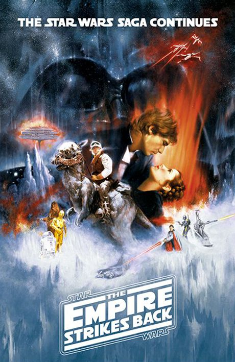 the empire strikes back star wars poster emp