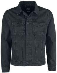 Dusty Black Slim Fit Denim Jacket