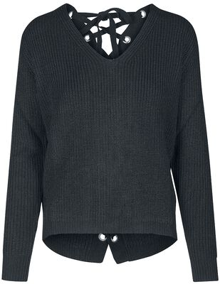 Ladies Back Lace Up Sweater