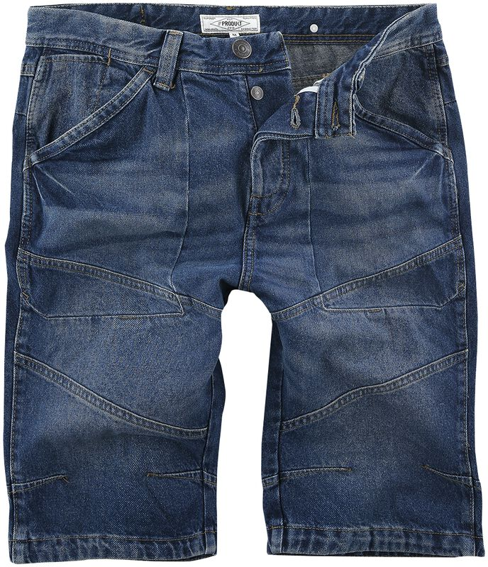 Long Blue Denim Shorts
