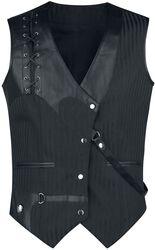 Criss Cross Gothic Men's Waistcoat