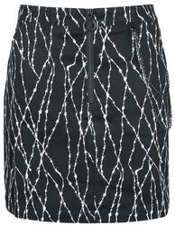 Barbed Mini Skirt