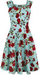 0s Ditsy Rose Floral Summer Dress