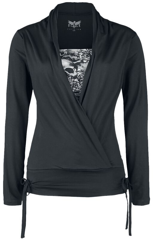 Long sleeve shirt in wrap-around design