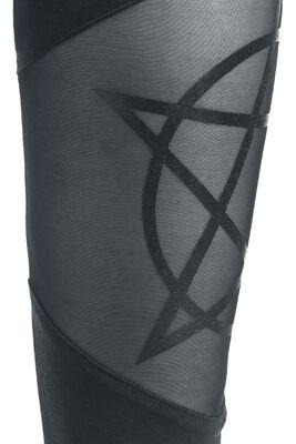 Gothicana Leggings with Pentagram