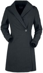 Black Coat with Wool Content