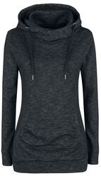 Ladies Slub Terry High Neck Hoody