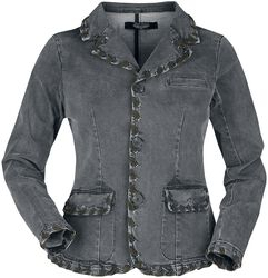 Rock Rebel Grey Denim Jacket