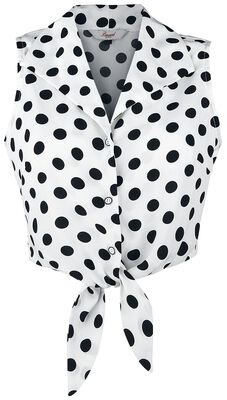 Polka Love Tie Top
