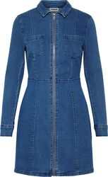 Lisa Denim Zip Dress