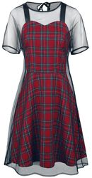 Tartan Mesh Skater Dress