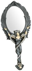 Black Angel Hand Mirror