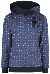 Cat Paws & Cherries Girl Shawl Hoodie