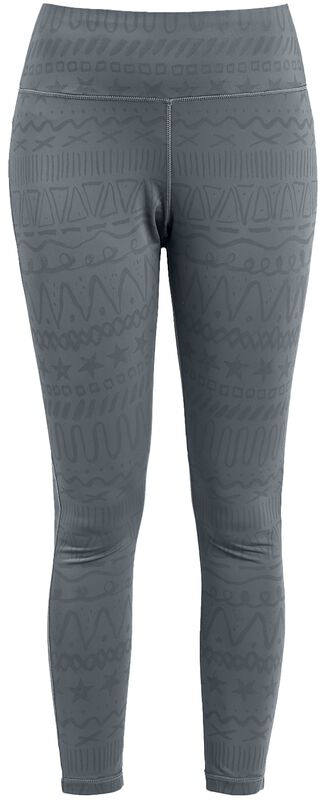 Sport and Yoga - Grey Leggings with All-Over Print