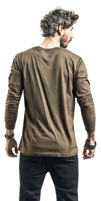 Long-Sleeve Top with Front Priint