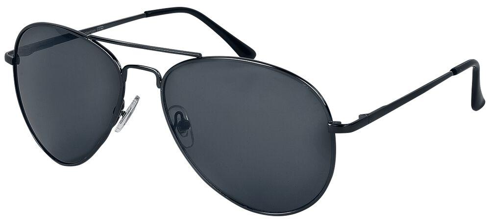 Shiny Black Aviator Sunglasses