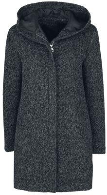 Melange Hooded Coat