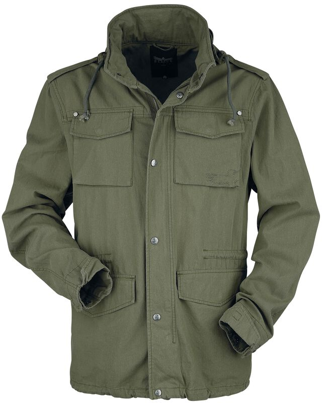Between-seasons jacket in olive military style