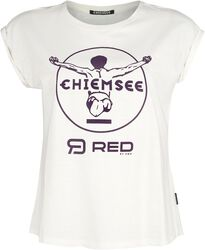 RED X CHIEMSEE - White T-Shirt with Print