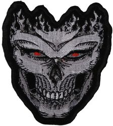 Skull Patch with Red Eyes